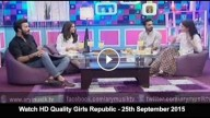 Girls Republic – 25th September 2015