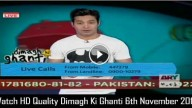 Dimagh Ki Ghanti 6th November 2015